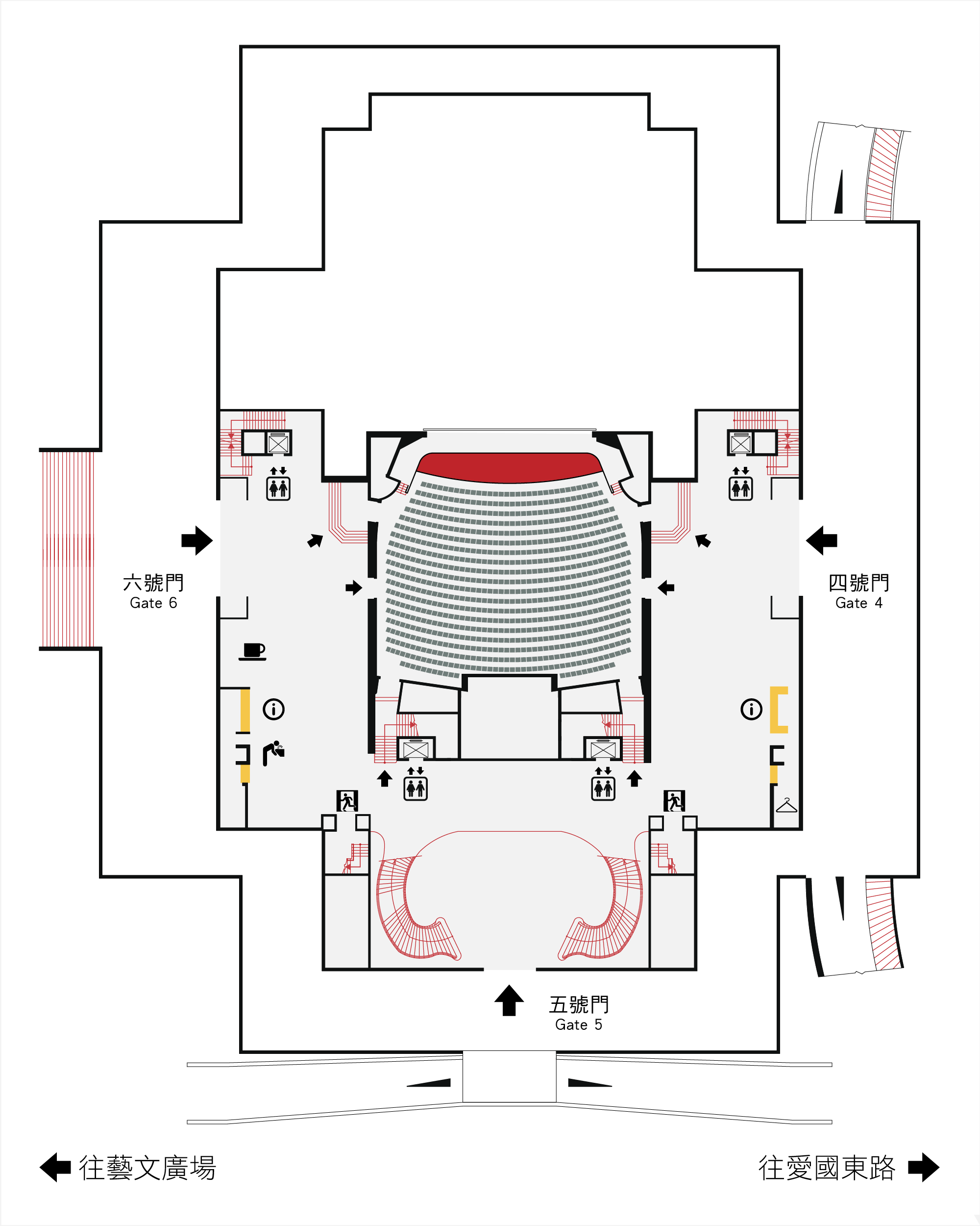 國家戲劇院1F平面圖,口述影像敬請期待